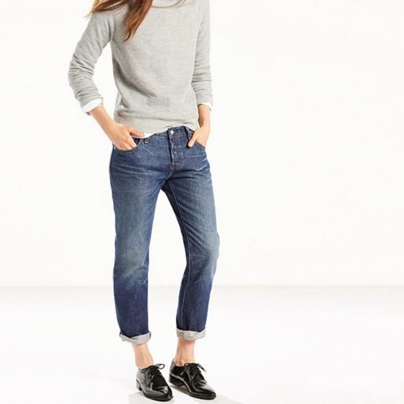 5bd74131449 501 CT SELVEDGE JEANS FOR WOMEN W25